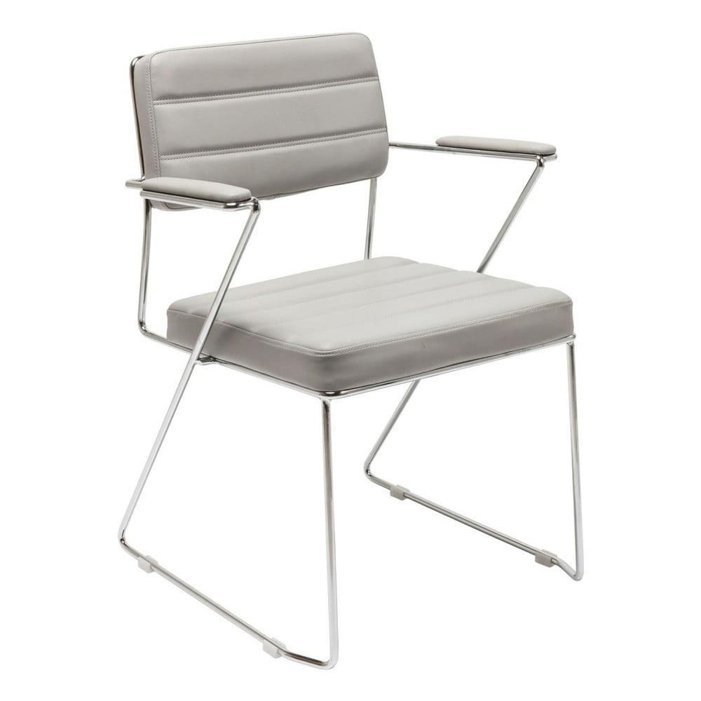 Šedá židle Kare Design Dottore Grey