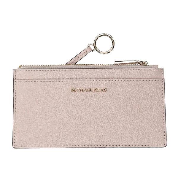 Světle růžová kožená peněženka Michael Kors Paradise
