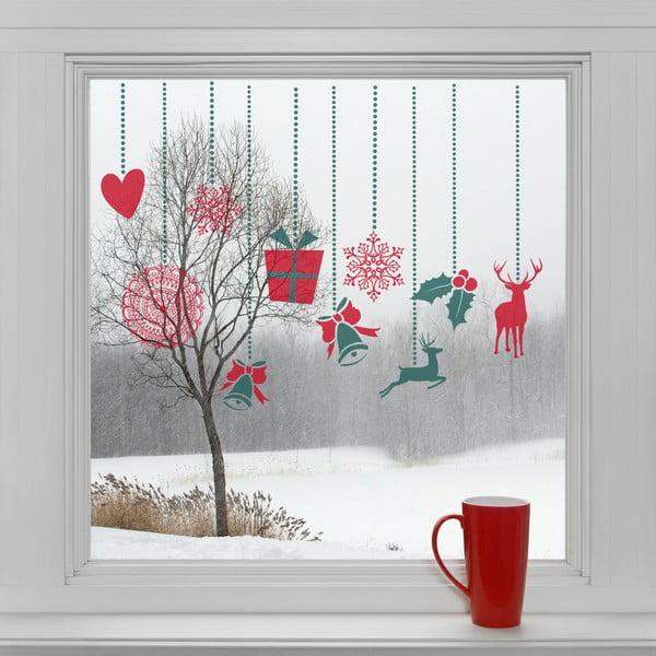 Elektrostatické vánoční samolepky Ozdoby na okno