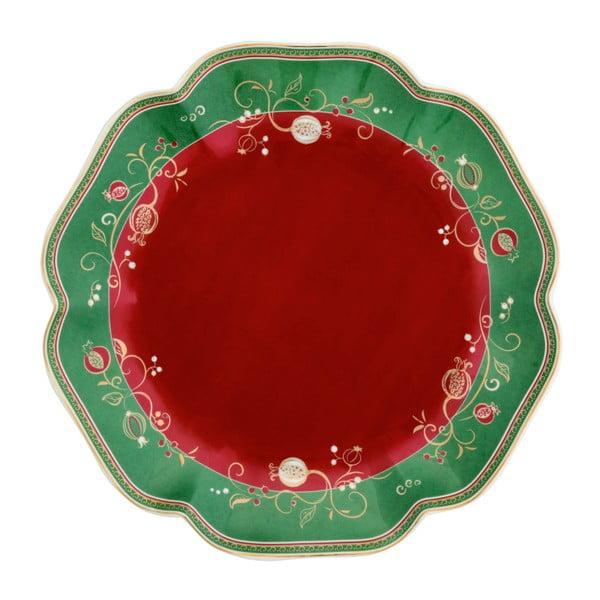 Servírovací tanier s vianočným motívom Brandani Tempo di Festa, ⌀ 31 cm