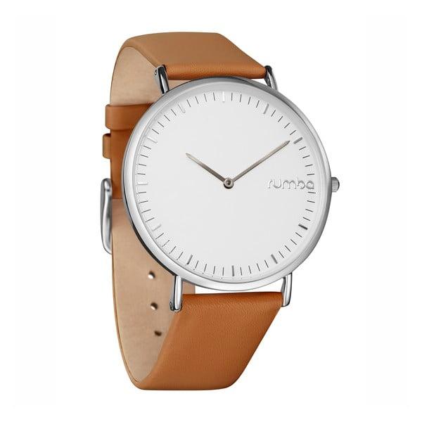 Kožené dámské hodinky Rumbatime SoHo Silver Hazelnut