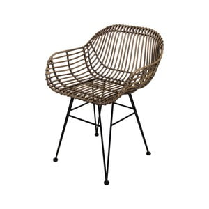 Jídelní židle z kovu a ratanu HSM collection