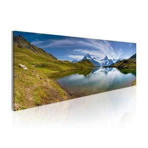 Obraz na plátně Artgeist Mountain Lake, 120x40cm