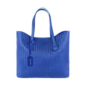 Modrá kožená kabelka Maison Bag Ginnie