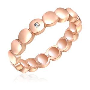 Stříbrný prsten v barvě růžového zlata s pravým diamantem Tess Diamonds Flo, vel.54