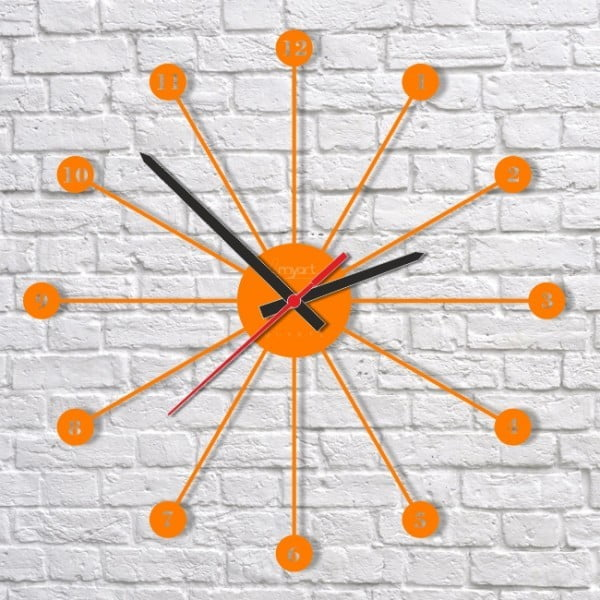Nástěnné hodiny Orange Imagine