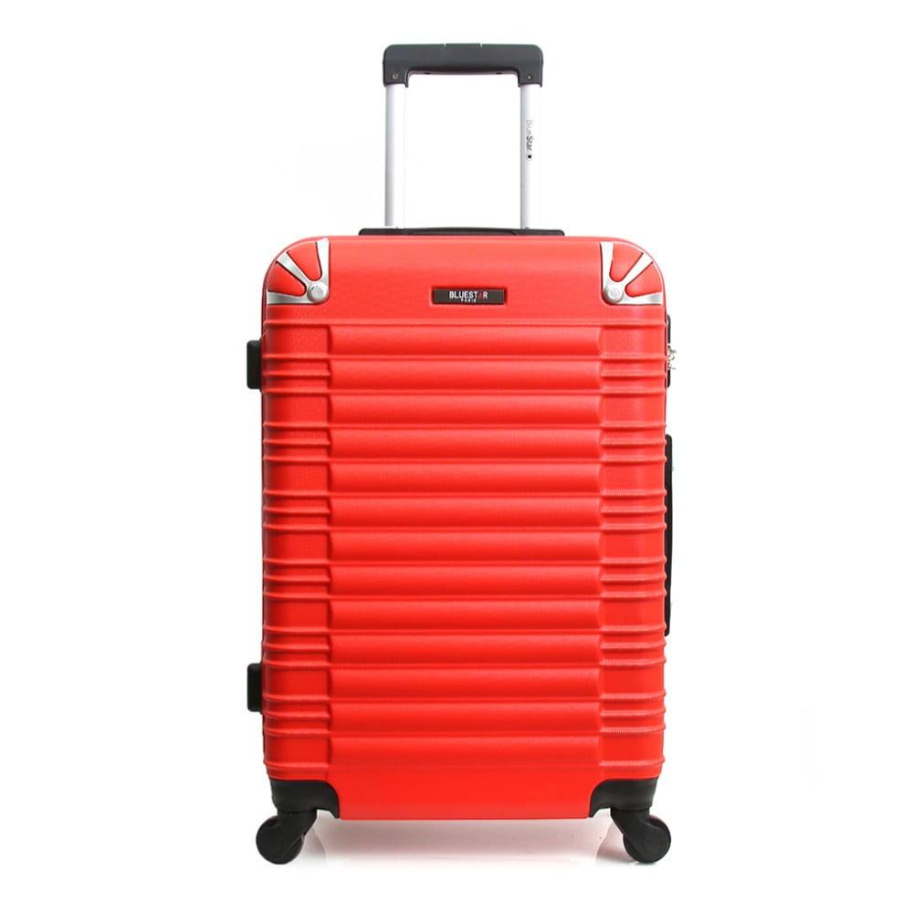Červený cestovní kufr na kolečkách Blue Star Lima, 31 l