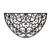Covoraș intrare semicircular cauciucat Esschert Design Ornamental, lățime 66,5 cm