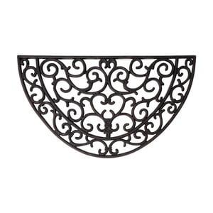 Gumová půlkruhová rohožka Esschert Design Ornamental, šířka 66,5cm