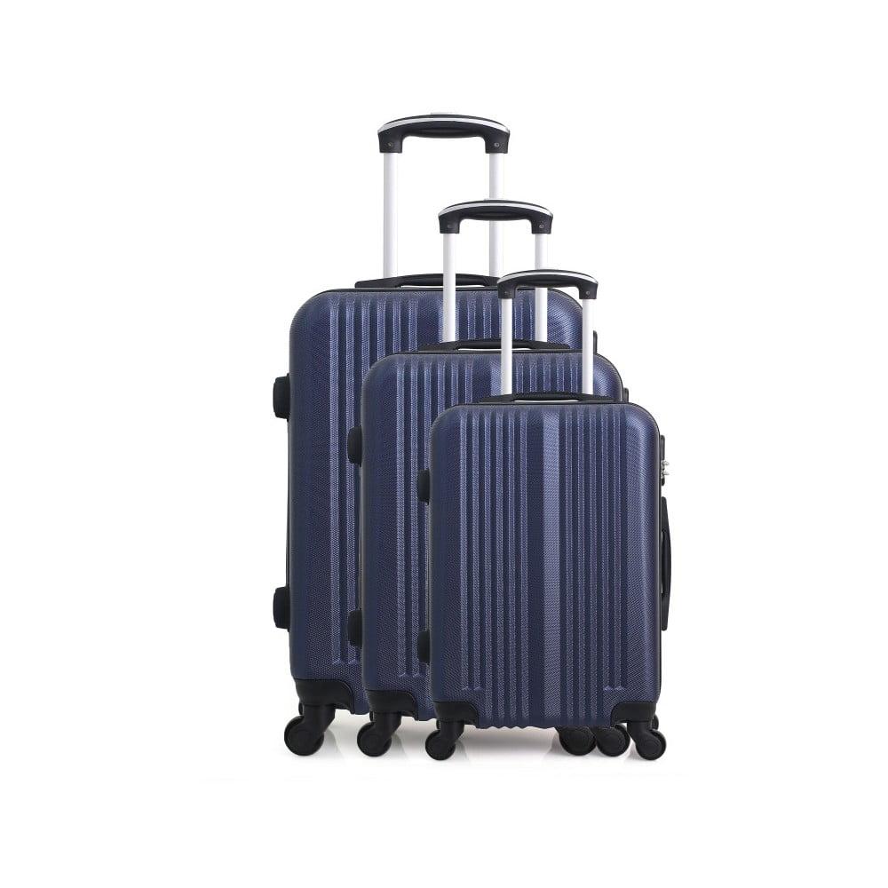 Sada 3 modrých cestovních kufrů na kolečkách Hero San Diego