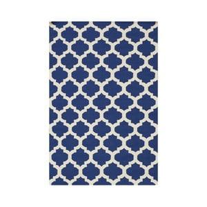 Modrý ručně tkaný koberec Kilim Zircon, 120x180cm