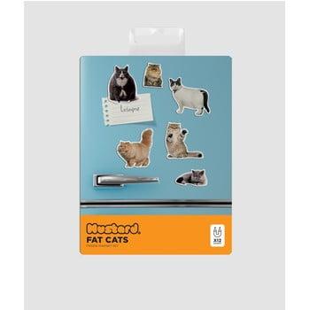 Set 5 magneți decorativi Just Mustard Fat Cat imagine