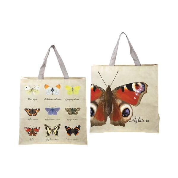 Nature összehajtható bevásárlótáska pillangó mintával - Ego Dekor