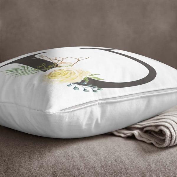 Față de pernă Minimalist Cushion Covers Floral Alphabet U, 45 x 45 cm