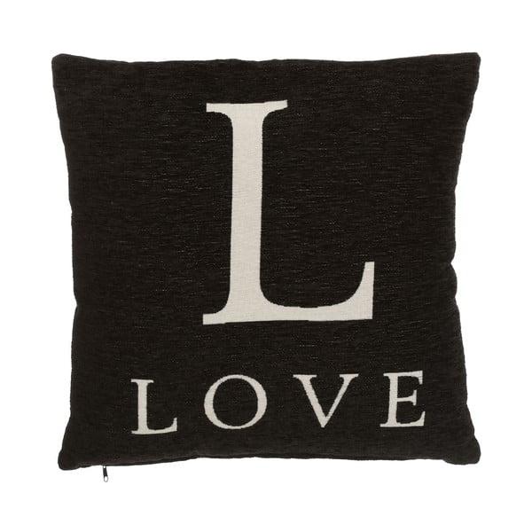 Polštář Premier Housewares Love Black, 45x45cm