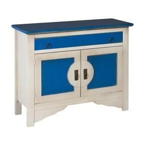 Modro-bílá komoda Evergreen House Credenza