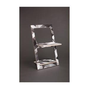 Skládací židle s potiskem na obou stranách Ambivalenz Fläpps Cross Grey