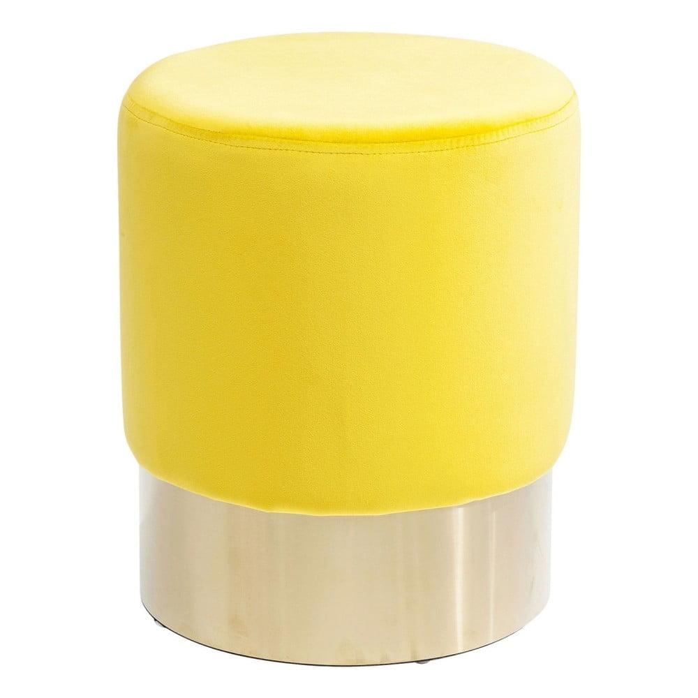 Žlutá stolička Kare Design Cherry