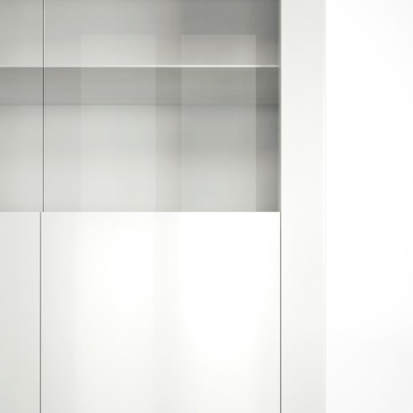 Bílá vitrína Artemob Orlando, 92 x 168 cm
