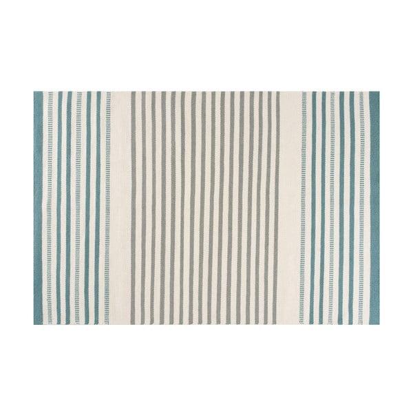 Ručně tkaný vlněný koberec Linie Design Story Aqua, 170x240cm