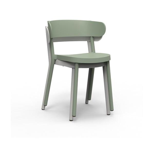 Set 2 scaune de grădină Resol Casino, gri maroniu