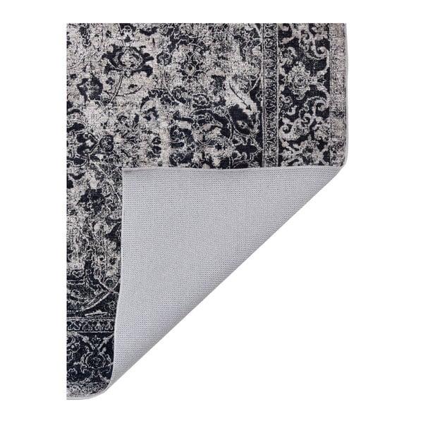 Tmavě šedý koberec odolný proti skvrnám Webtappeti Edessa, 120x180cm