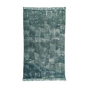Zelený bavlněný koberec Oreste Luchetta Yantra, 195x115cm