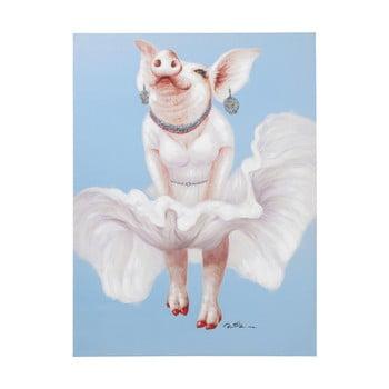 Tablou Kare Design Pig Diva, 120 x 90 cm