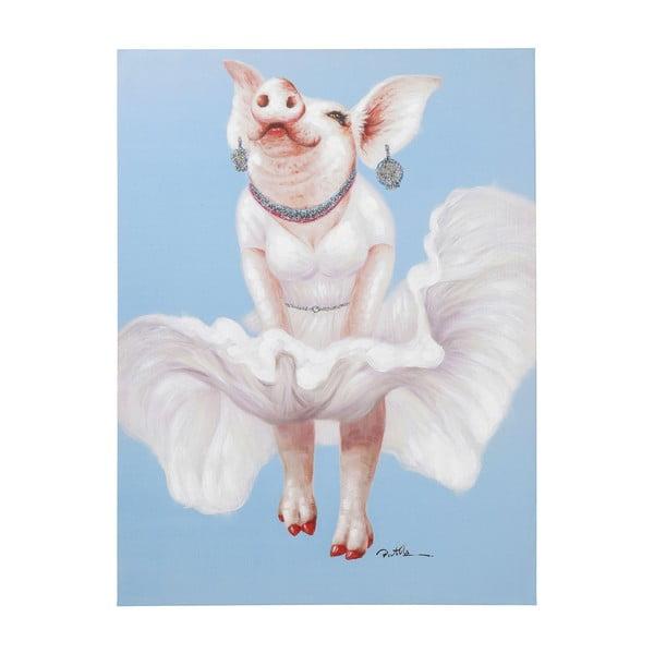 Obraz Kare Design Pig Diva, 120x90cm