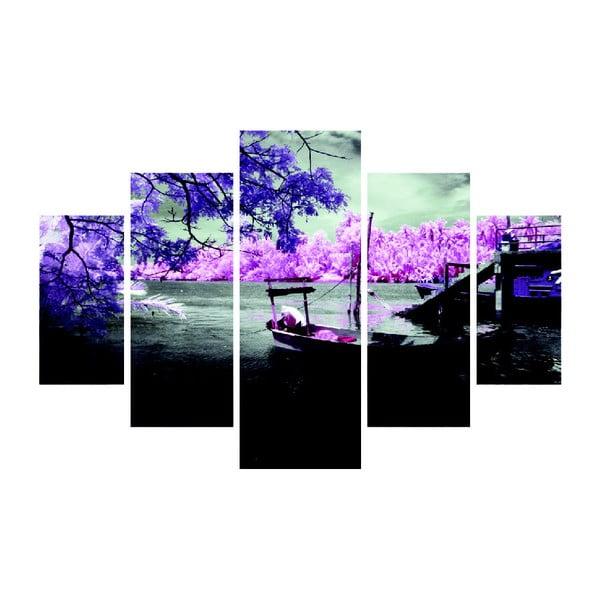 Obraz wieloczęściowy Purple Water, 92x56 cm