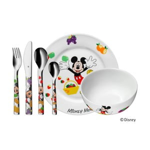 6dílná sada dětských nerezových příborů a nádobí WMF Mickey Mouse