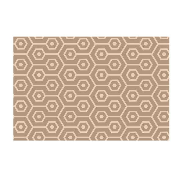 Vinylový koberec Hexágonos Beige, 100x150 cm