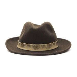 Hnědý kožený pánský klobouk Alviero Martini Safari