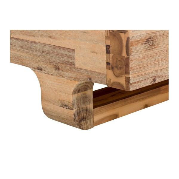 Postel z akáciového dřeva SOB Madrid, 180x200cm
