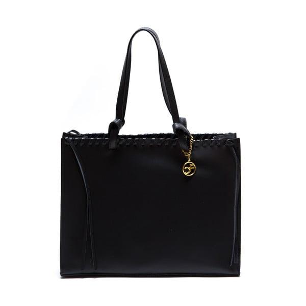 Kožená kabelka Felicia, černá