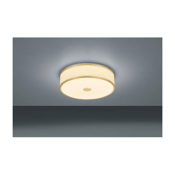 Plafonieră LED Trio Agento, ø 40 cm, auriu