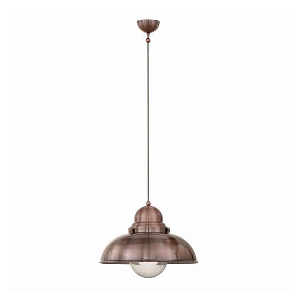 Závěsné světlo Crido Loft Copper, 43 cm