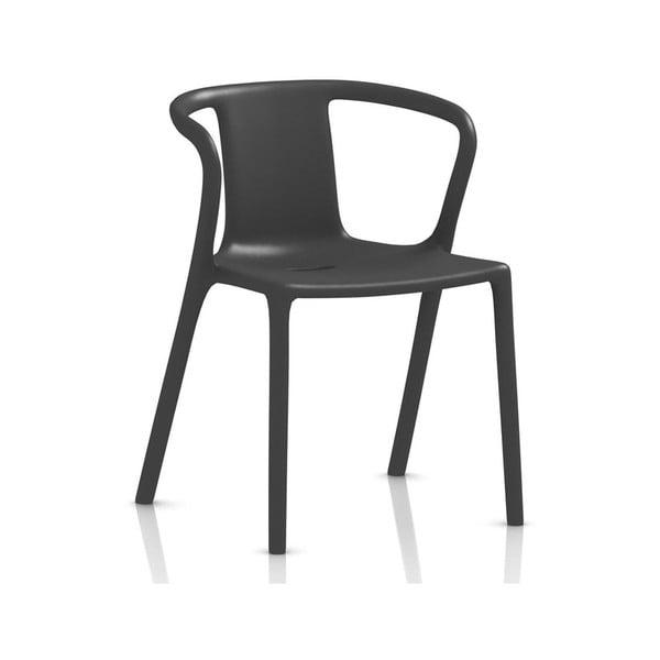 Antracitově šedá jídelní židle s područkami Magis Air