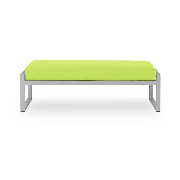 Nicea lime zöld kétszemélyes kültéri pad szürke kerettel - Calme Jardin