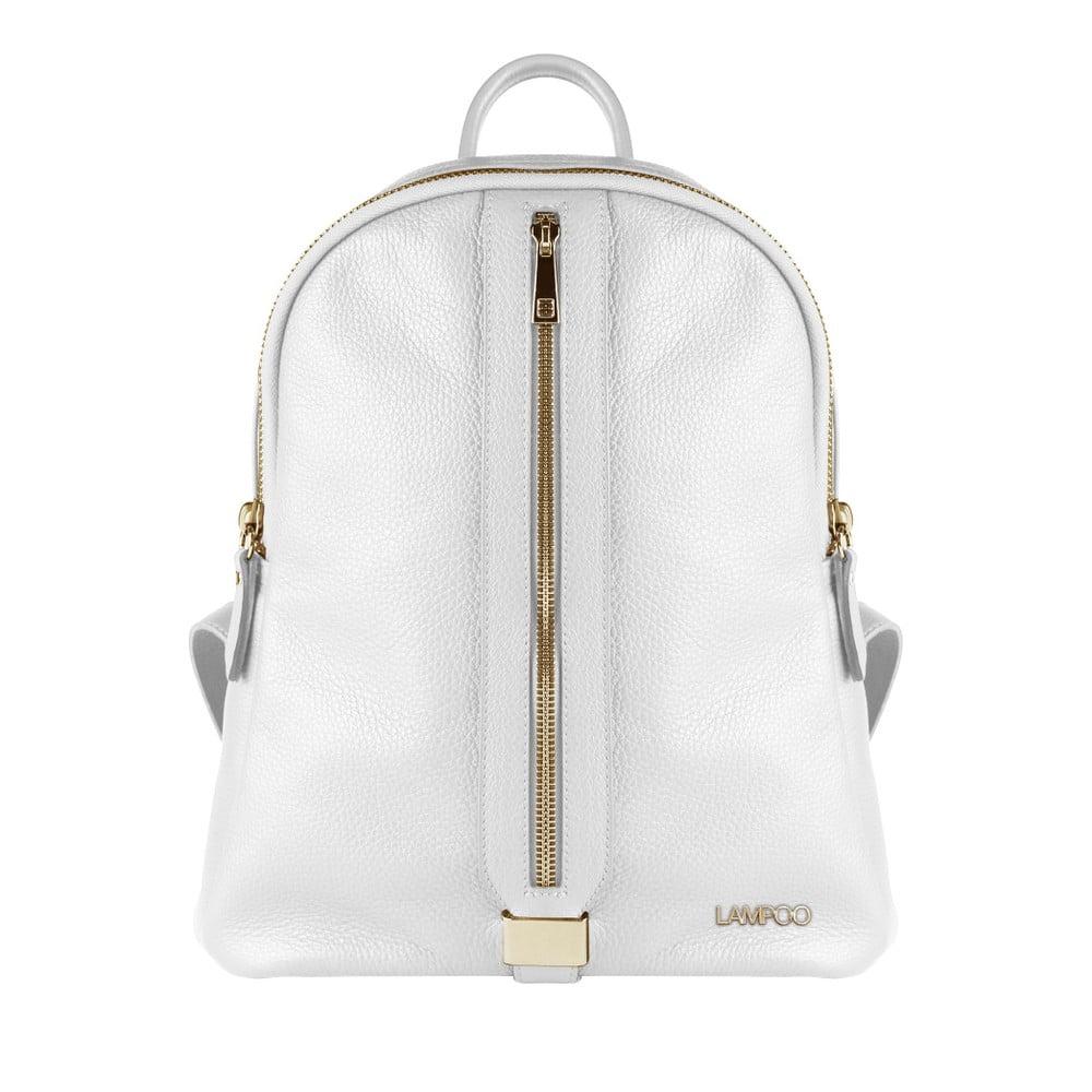 Bílý kožený batoh Lampoo Zerro