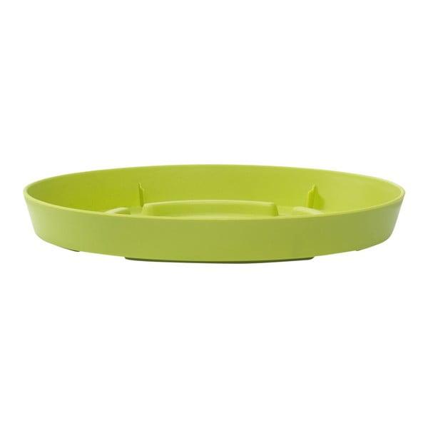 Miska pod květináč City Curve Green, 19 cm
