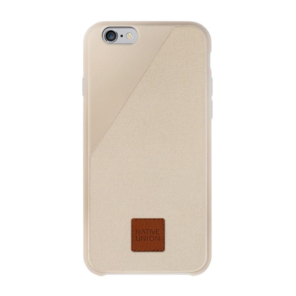 Světle béžový obal na mobilní telefon pro iPhone 6 a 6S Native Union Clic 360 Case