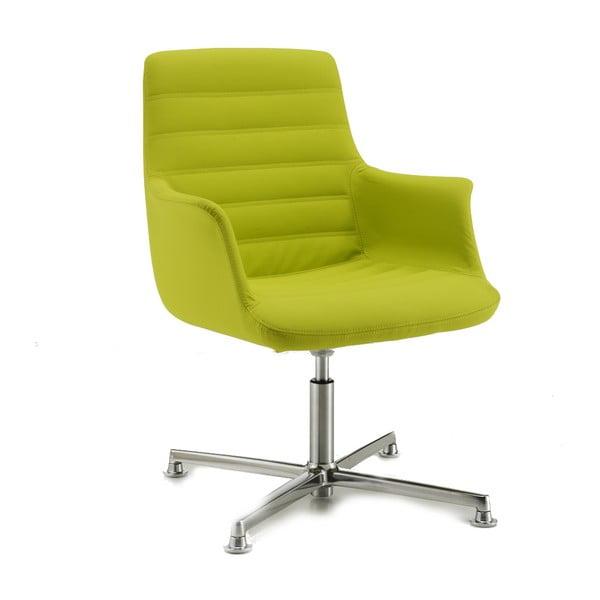 Limetková kancelářská židle s kolečky Zago Vetta