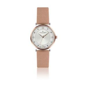 Dámské hodinky s páskem v růžovozlaté barvě z nerezové oceli Frederic Graff Lartiono