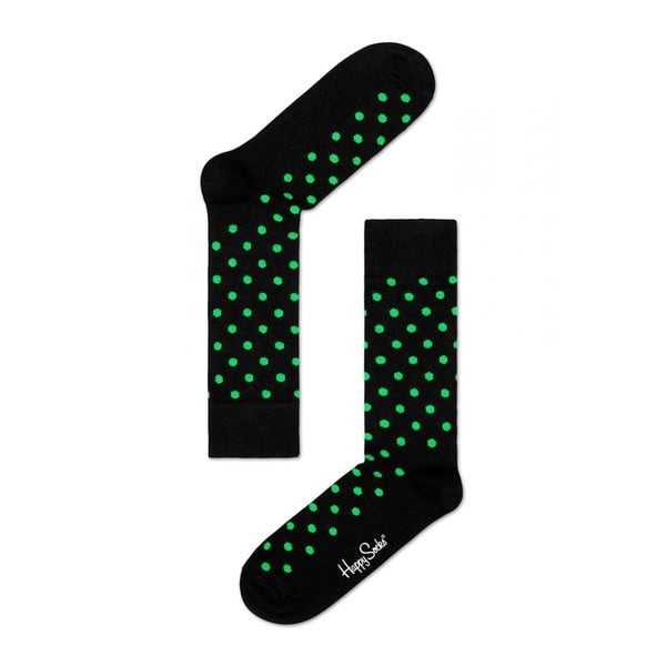 Ponožky Happy Socks Green Dots, vel. 36-40