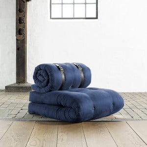 Křeslo/matrace Buckle up, 70 cm, tmavě modrá