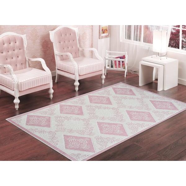 Pudrově růžový odolný koberec Vitaus Azalea, 80x200cm
