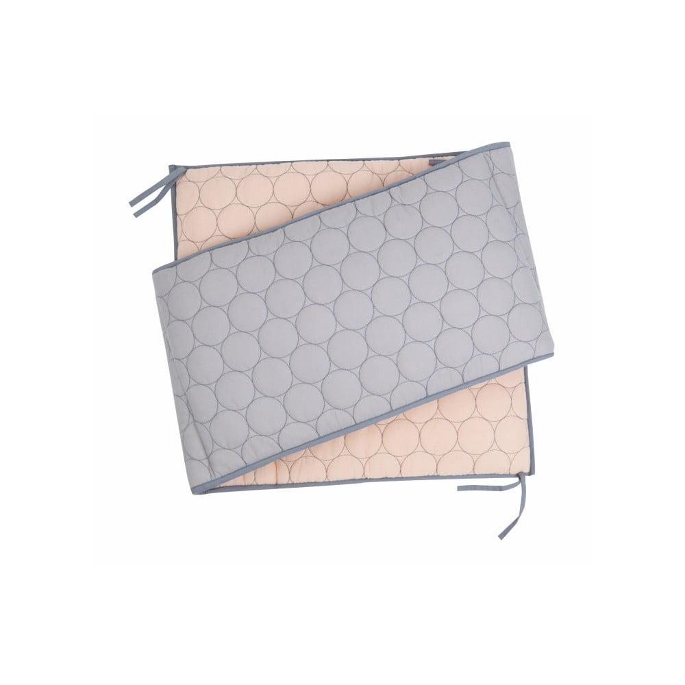 Bavlněná výstelka do postýlky Nattiot Dots, 35 x 190 cm