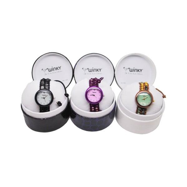 Korálkové hodinky Classic, Purple Haze