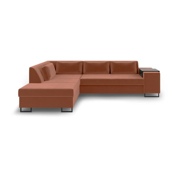 San Diego narancssárga kinyitható kanapé, bal oldali - Cosmopolitan Design